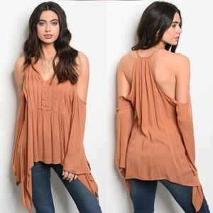 Tops - New Arrival !! Draped Cold Shoulder Top
